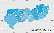 Political Shades Map of Upper East, single color outside