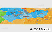 Political Shades Panoramic Map of Upper East