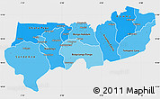 Political Shades Simple Map of Upper East, single color outside