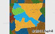Political Map of Upper West, darken