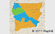Political Map of Upper West, shaded relief outside