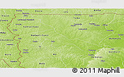 Physical Panoramic Map of Upper West