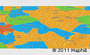 Political Panoramic Map of Upper West