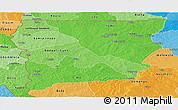 Political Shades Panoramic Map of Upper West