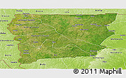Satellite Panoramic Map of Upper West, physical outside