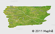Satellite Panoramic Map of Upper West, single color outside