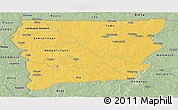 Savanna Style Panoramic Map of Upper West