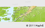 Physical Panoramic Map of Gbi