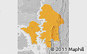 Political Map of Kete-Krachi, lighten, desaturated