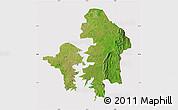 Satellite Map of Kete-Krachi, cropped outside