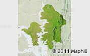 Satellite Map of Kete-Krachi, lighten