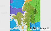 Satellite Map of Kete-Krachi, political outside