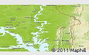 Physical Panoramic Map of Kete-Krachi