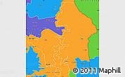 Political Simple Map of Kete-Krachi