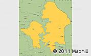 Savanna Style Simple Map of Kete-Krachi