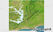 Satellite Panoramic Map of Volta