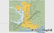 Savanna Style Panoramic Map of Volta
