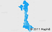 Political Shades Simple Map of Volta, single color outside