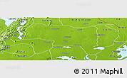 Physical Panoramic Map of Tongu