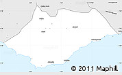 Silver Style Simple Map of Ahanta