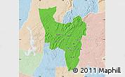 Political Map of Aowin, lighten