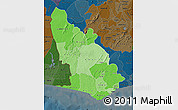 Political Shades Map of Western, darken