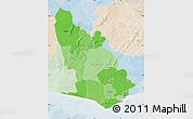 Political Shades Map of Western, lighten
