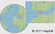 Savanna Style Location Map of Gibraltar