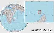 Gray Location Map of Glorioso Islands