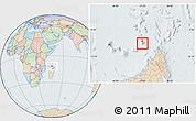 Political Location Map of Glorioso Islands, lighten