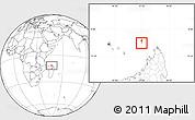 Satellite Location Map of Glorioso Islands, blank outside