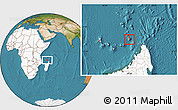 Satellite Location Map of Glorioso Islands, highlighted continent