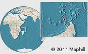 Satellite Location Map of Glorioso Islands, lighten, land only