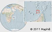 Satellite Location Map of Glorioso Islands, lighten