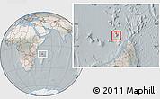 Satellite Location Map of Glorioso Islands, lighten, semi-desaturated