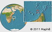 Satellite Location Map of Glorioso Islands