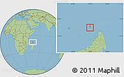 Savanna Style Location Map of Glorioso Islands