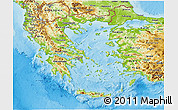 Physical 3D Map of Greece