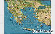 Satellite 3D Map of Greece