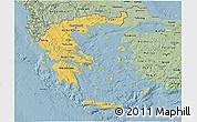 Savanna Style 3D Map of Greece