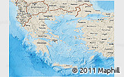 Shaded Relief 3D Map of Greece