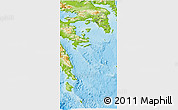 Physical 3D Map of Attiki