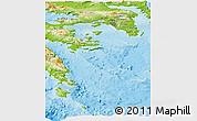 Physical Panoramic Map of Attiki