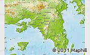 Physical Map of Piraieus
