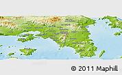 Physical Panoramic Map of Piraieus