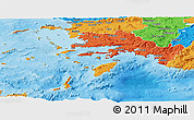 Political Shades Panoramic Map of Dodekanissa