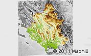Physical 3D Map of Ipiros, desaturated