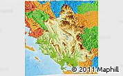 Physical 3D Map of Ipiros, political outside