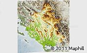 Physical 3D Map of Ipiros, semi-desaturated