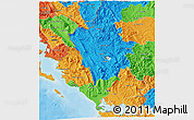 Political 3D Map of Ipiros